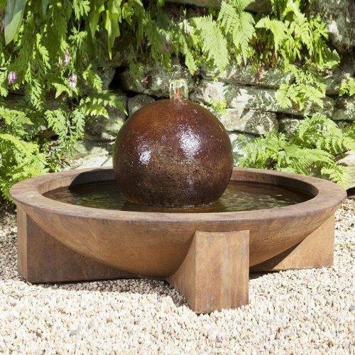 Zen Low Cast Stone Sphere Fountain Finish: Terra Nera