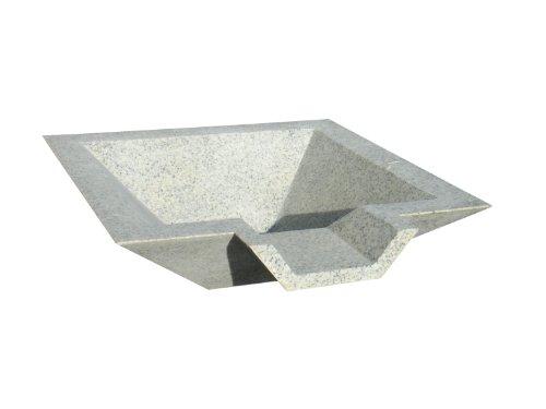 Kutstone Cubic Scupper Fountain 24-inch Speckled Granite