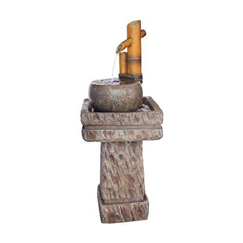 Design Toscano Bamboo Wellspring Pedestal Garden Fountain