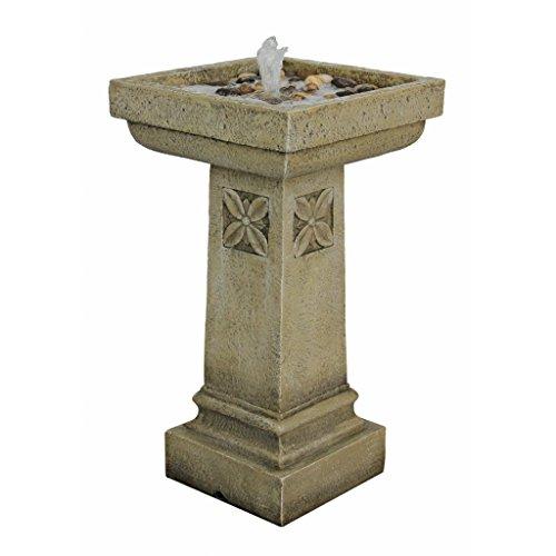 Design Toscano White Chapel Manor Pedestal Garden Fountain