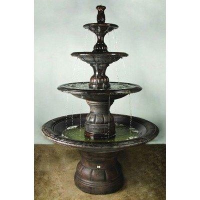 Henri Studio 7535 Grande Contemporary Four Tier Fountain Pedestal