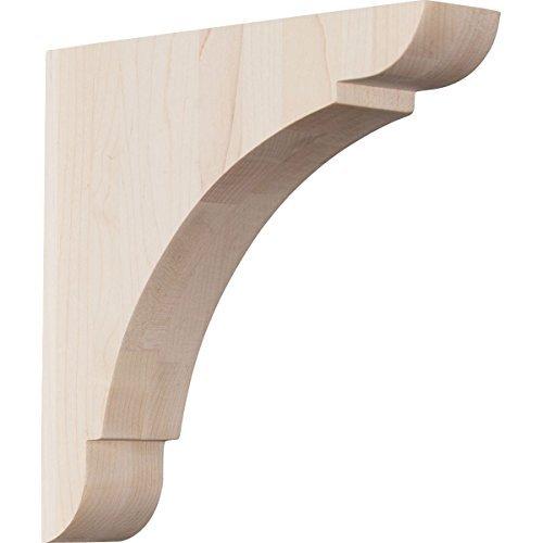 Ekena Millwork BKTW01X08X08OLAL 1 34W x 8D x 8H Medium Olympic Wood Bracket Alder Size 1 34W x 8D x 8H Color Alder Model BKTW01X08X08OLAL Outdoor Hardware Store