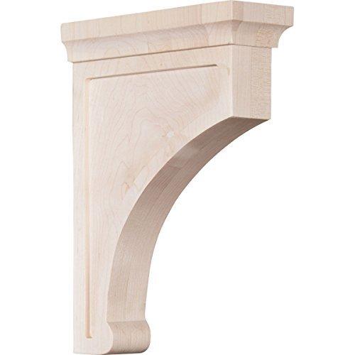 Ekena Millwork BKTW02X07X10GORW 2 12W x 7D x 10H Large Gomez Wood Bracket Rubber Wood Size 2 12W x 7D x 10H Color Rubberwood Model BKTW02X07X10GORW Outdoor Hardware Store