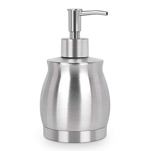 LaLa Dolce Stainless Steel Countertop Soap Dispenser Prime 390ml Liquid Bottle for Kitchen Bathroom Hand Dish Lotion
