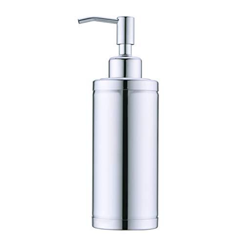 Kmeino Full Stainless Steel Countertop Soap Dispenser Prime 300 ML Liquid Bottle for Kitchen Bathroom Hand Dish Lotion B1-04-DG