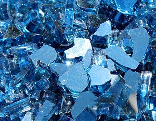 Blue Ridge Brand Reflective Fire Pit Glass 5oz Sample Blue Reflective
