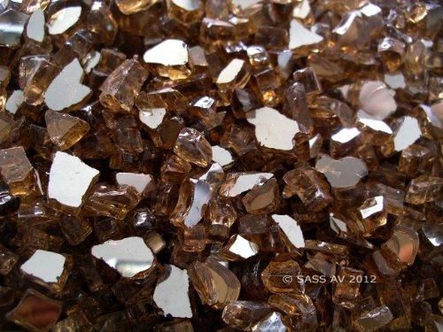 Fireglass Fireplace Fire Pit Glass ~14 Copper Reflective 5 LBS