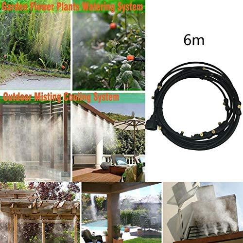 Coedfa Irrigation Hose Irrigation System Irrigation Pipe Outdoor Misting Cooling System Garden Irrigation Water Mister Nozzles Set Black A