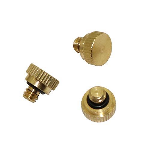 DORATA - Brass Blind plug with Thread for repair Garden Irrigation Sprinklers system 1024 Slip-Lock Connector plug 10 Pcs