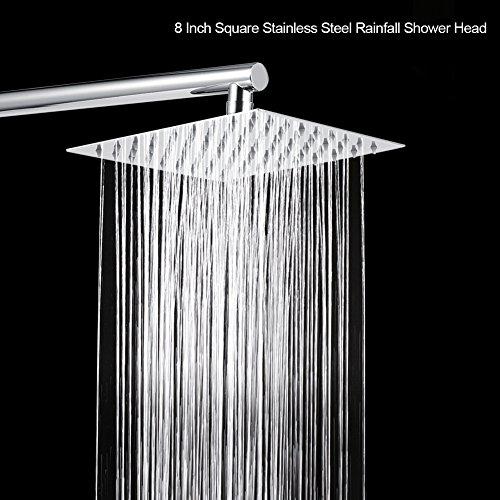 Brass Shower System 10 Inch Bathroom Luxury Rain Mixer Shower Combo Set Wall Mounted Rainfall Shower Head Systems