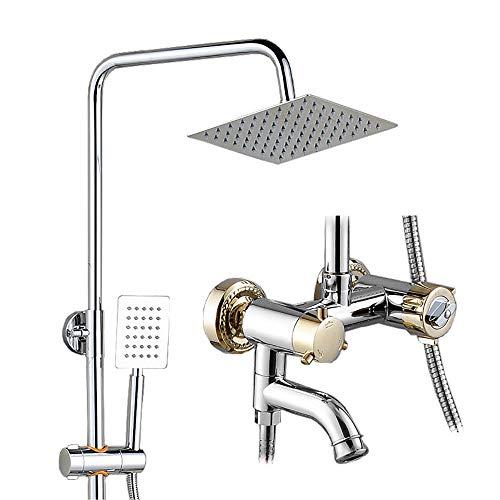 ZXY-NAN Handheld Showerheads Bathroom Rain Mixer Shower Combo Set Square Rainfall Shower Head System Ultra Thin Bathroom Rainfall Showerhead Bathroom Accessories