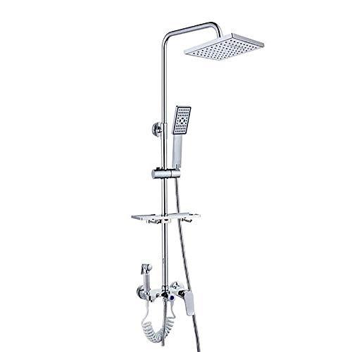 ZXY-NAN Handheld Showerheads Bathroom Shower System Dual Head Set Wall Mount Shower Mixer Taps with Rain Shower Head Handheld ShowerStainless Steel Bathroom Accessories