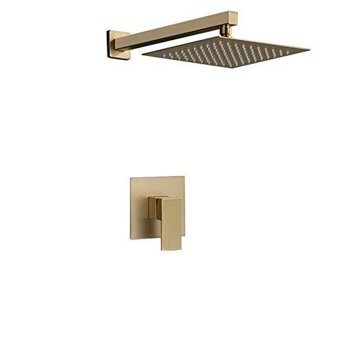 ZXY-NAN Handheld Showerheads Hand held Brushed Gold Adjustable Rain Bathroom Shower Set System Durable Bathroom Accessories