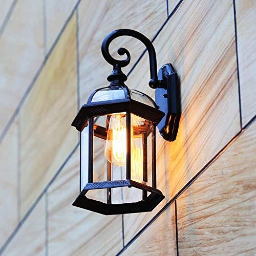 BGXC Retro Creative Traditional Victoria Outdoor E27 Wall Light Waterproof Wall Sconce Glass External Wall Lantern Light Patio Balcony Garden Villa External LightingBronze