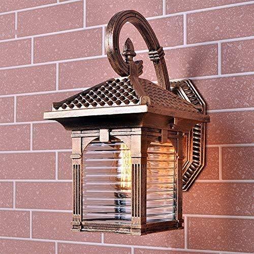 FZZ G-Wall Lamps Light Outdoor Rustproof Metal Wall Light Retro E27 Glass Wall Light Outside Sconce for Villa Corridor Aisle Patio External Lighting