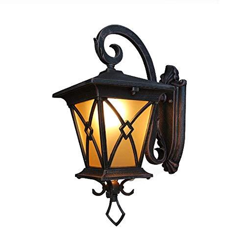 Large Down Outdoor Wall Light Wall Lantern E27 Wall Sconce Lamp External Lighting Waterproof Fence Light Clear GlassAluminum Fixture IP65 Light Matt Black Villa Balcony