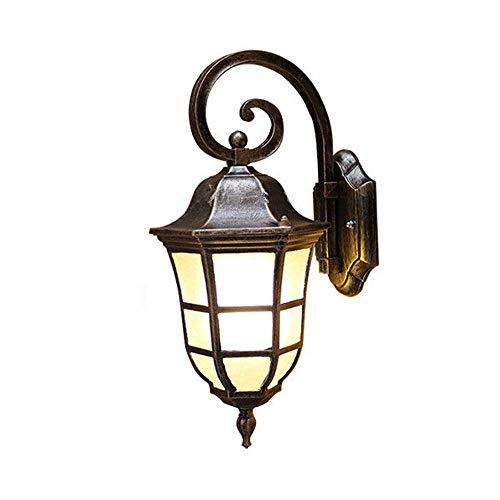 Retro Outdoor Waterproof Brass E27 Wall Lamp Villa Balcony Landscape Light Porch Corridor Wall Sconce Gateway Yard Glass Wall Lantern Street Garden Fence Light External Lighting