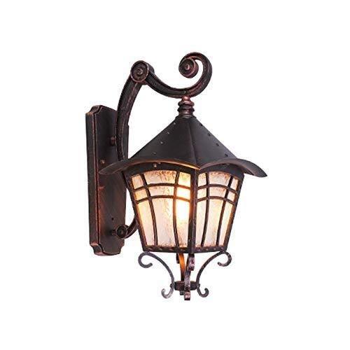 ZWJ-Wall Lamp Wall Lamp Minimalist Anti-Rust Metal Wall Light Garden Wall-Mounted Glass Sconce Night External Lighting Fixtures