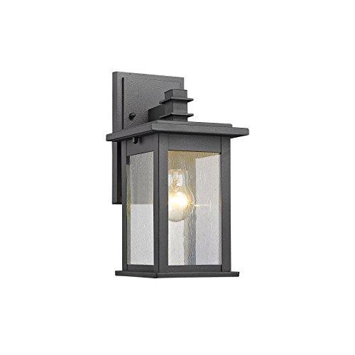 "Chloe Lighting Ch822031bk12-od1 Transitional 1 Light Black Outdoor Wall Sconce 12"" Height"