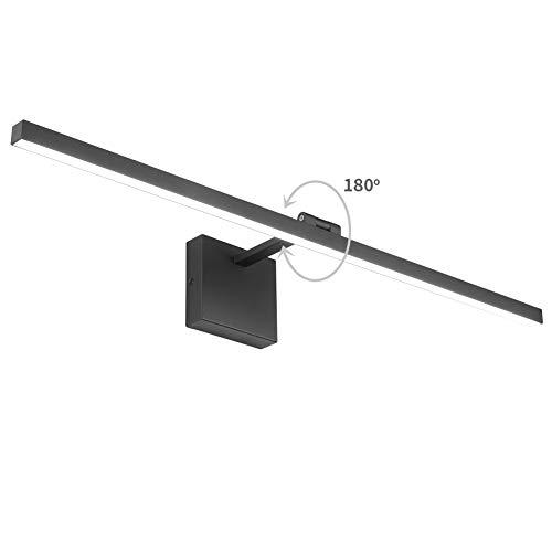 Aipsun 315in18W Modern Black Vanity Light LED Black Bathroom Wall Light Adjustable Wall Light for Bathroom Lighting Fixtures Cool White 6000K