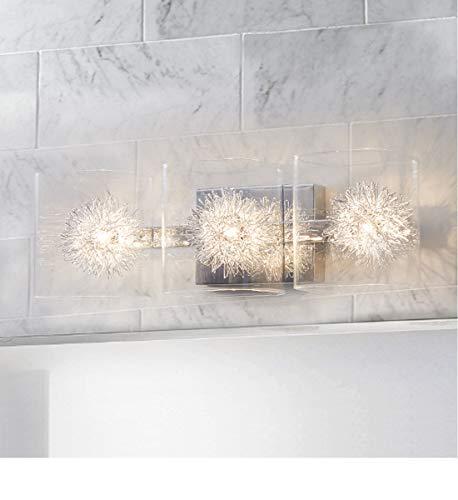 Glass Vanity LightBathroom Light FixturesWall Sconce LightingPolished Chrome FinishBathroom Lighting Over Mirror