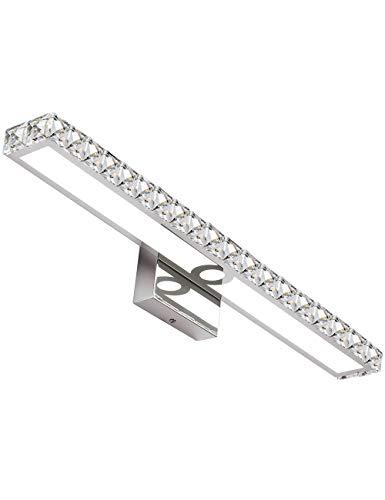 SOLFART LED Vanity Lights Over Mirror254 inch 24WCrystal Wall Lights for Bathroom Lighting Fixtures