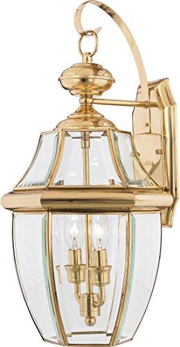 Quoizel NY8317B Newbury 2-Light Outdoor Lantern Brass