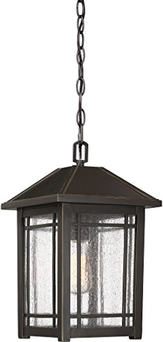 Quoizel CPT1910PN Cedar Point Outdoor Pendant Lighting 1-Light 150 Watts Palladian Bronze 16 H x 10 W