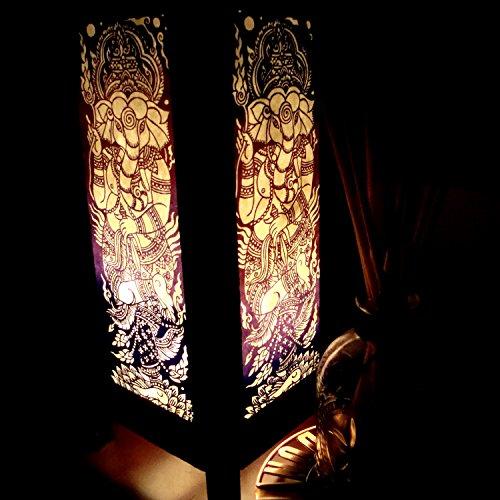 Ganesha Worship India Table Lamp Lighting Shades Floor Desk Outdoor Touch Room Bedroom Modern Vintage Handmade