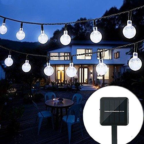 Top 21 for best outdoor string light 2018 outdoor solar string light 20 ft 30led crystal christmas globe ball waterproof outdoor string lights solar aloadofball Images