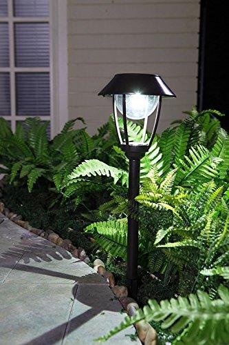 Grand Patio Christmas Solar LED column path light outdoor Garden lamp 2PCS