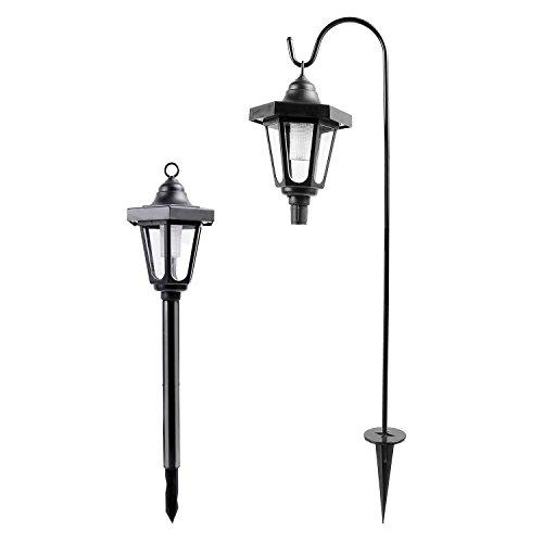 Ohuhu Solar Garden Light Solar Powered LED Lantern Light for Gardening Outdoor Patio Pathway Wall Ground Hanging Mount 2 Pack