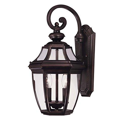 Savoy House Lighting 5-492-13 Endorado Collection 2-light Outdoor Wall Mount Lantern English Bronze Finish With