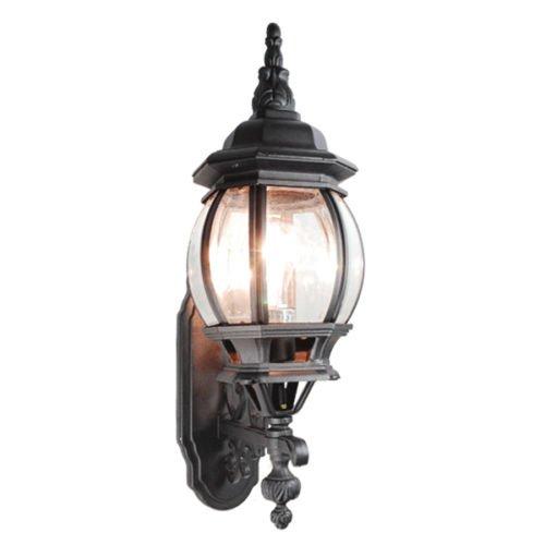 GHP Outdoor Garden Lighting Classical 19 Deluxe Matt Black Wall Light