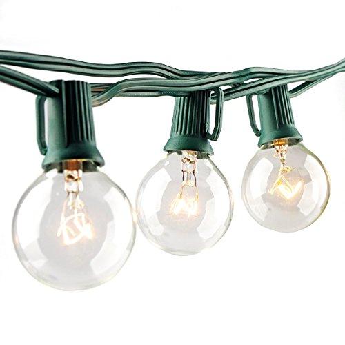 Escolite 25-feet G40 Globe Patio Lights Warm White