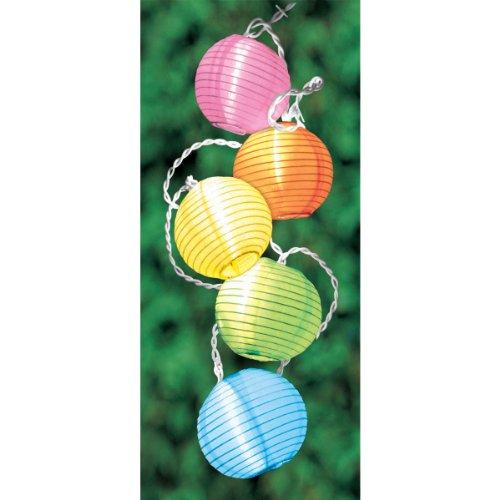 Grasslands Road Round Multi Color Lantern 10 Patio Light Set 11-Foot
