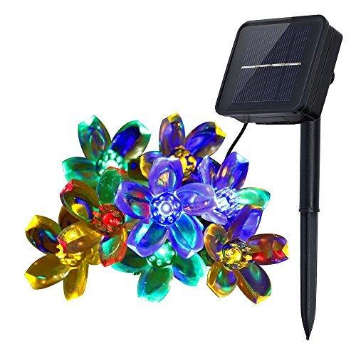Innoo Tech Solar String Lights Outdoor Flower Garden Light 21ft 50 LED Multi Color Blossom Lighting for Christmas Garden Indoor Wedding Party Decoration Patio Light RBG Fairy