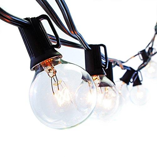 Kihung 35 Feet G40 Globe String Lights 35 Bulbs 40 Bulbs Included Weatherproof Outdoor Decoration Patio Lights