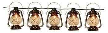 Patio String Lights Oil Lantern Style Indoor Outdoor