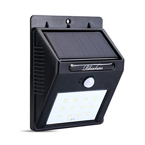 Solar Powered Motion Sensor Light 12 Leds Wall Light For Yard Garden Deck Driveway Outside 1-pack