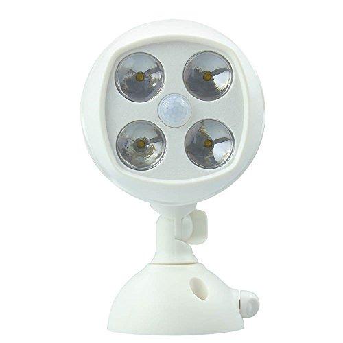 Hapway 600-lumen Bright Weatherproof Wireless Battery Powered 4 Led Motion Sensor Outdoor Spotlight With Activated
