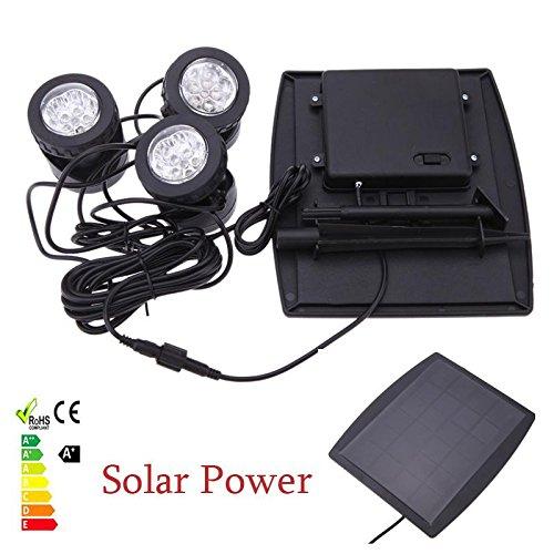 Hight quality 18 LEDs Solar Spotlights with Solar panel 3 RGB Lawn Solar Lamps Garden Pool Pond Yard Lights Outdoor Spot Light EC00104