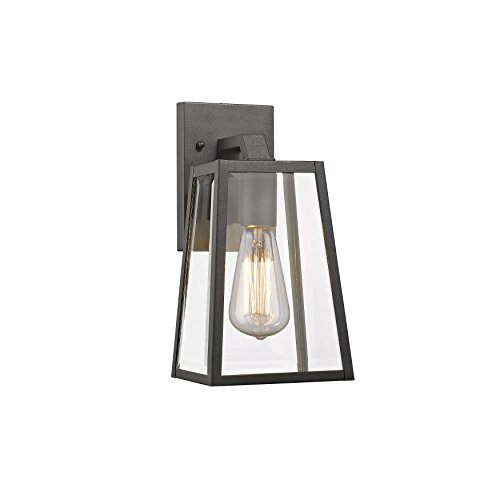 Chloe Lighting Ch822034bk11-od1 Transitional 1 Light Black Outdoor Wall Sconce 11&quot Height