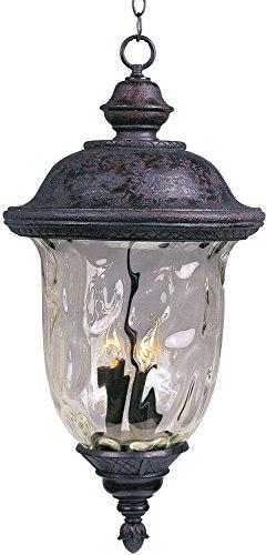 Maxim Lighting 3427wgob Carriage House Dc 3-light Outdoor Hanging Lantern Oriental Bronze Finish