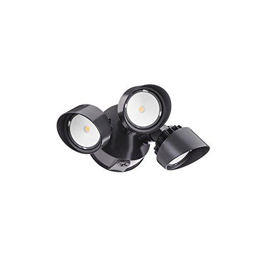 Lithonia Lighting Olf 3rh 40k 120 Bz M4 3-head Outdoor Led Round Flood Light Blackbronze