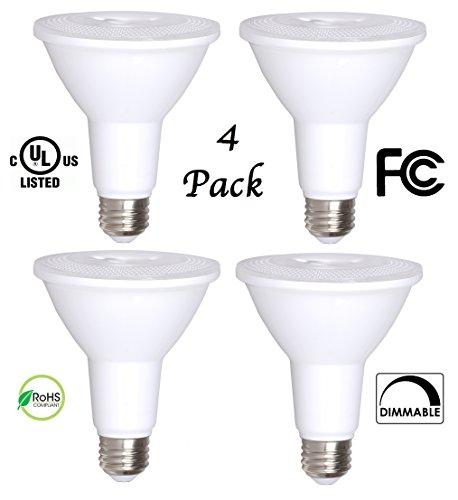 4 Pack Bioluz LED PAR30 LED Bulb 12w Dimmable Flood Light Bulb 100w Halogen Bulb Equivalent 850 Lumen 3000K Indoor  Outdoor UL Listed