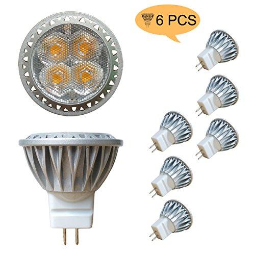 Alide 3W MR11 GU4 Led Bulb LightReplace 35W Halogen EquivalentNot Dimmable12VACDC35mm3000K Warm White240lm80Ra30° Aluminum Bi pin Spotlight for Indoor Decor Outdoor Landscape Lighting 6pcs