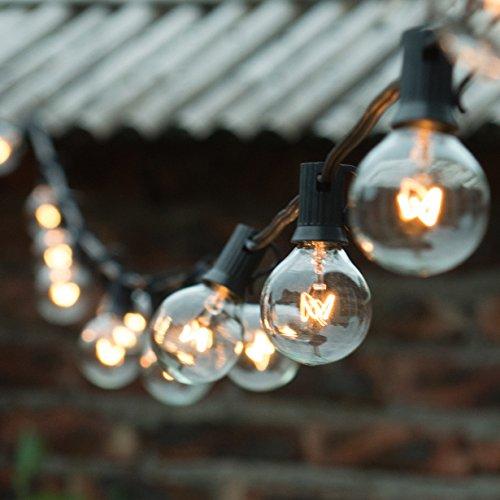 Top 21 best outdoor light bulbs 2018 g40 clear globe string lights set of 25 g40 bulbs indoor outdoor ul listedblake aloadofball Images