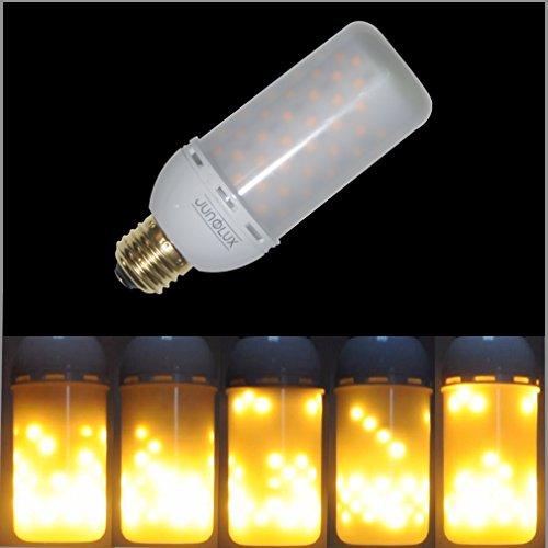 JUNOLUX 12V Decorative LED Fire Flame Bulb Burning Light Fire Effect DC12V 4W For Solar System Emergency Outdoor DecorationPack of 1 Downward