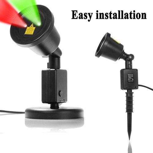 Starry Sky Outdoor Laser Lights 7w Redamp Green 2 In 1 Dynamic Lighting Star Projector Laser Spotlight Light Waterproof
